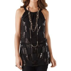 White House Black Market Sequin Halter Tunic NWT